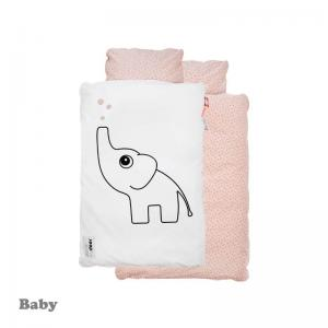 Done By Deer Elphee Bedlinen Powder Baby Size