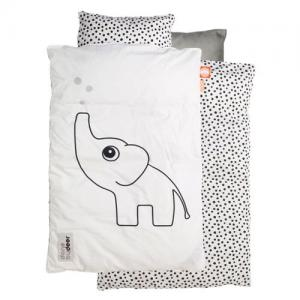 Done By Deer Bedlinen Crib Elphee White Grey