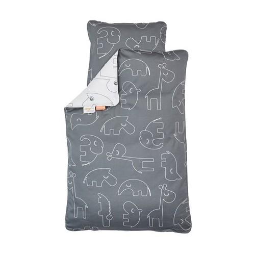 Done By Deer Bedlinen Crib Sleepy Grey