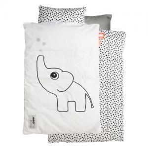 Done By Deer Påslakanset Vagn/Vagga Elphee Elefant Vit Grå