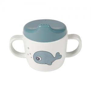 Done By Deer 2-handle Spout Cup Sea friends Blue