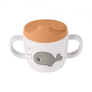 Done By Deer 2-handle Spout Cup Sea friends Mustard / Grey