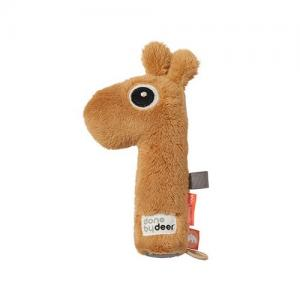 Done By Deer Rattle & Squeaky Toy Giraffe Raffi Yellow