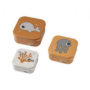 Done By Deer Snack Box 3 Pack Sea Friends Mustard Senapsgul