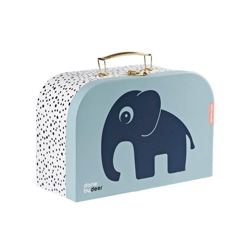 Done By Deer Väska i Papp Blå med Elefant Stor