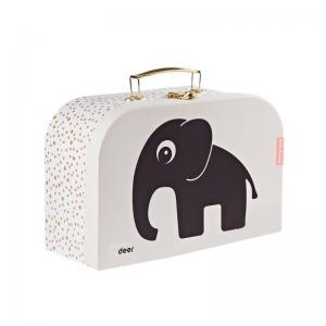 Done By Deer Väska i Papp Rosa med Elefant Stor