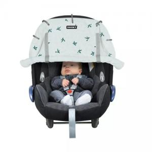 Dooky Cover for Stroller & Car Seat Swallows Grey