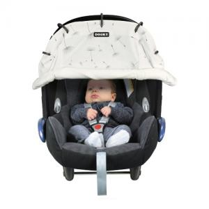 Dooky Universal Sun Cover for Stroller & Car Seat Grey Crown