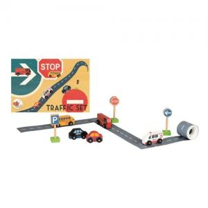 Egmont Toys Traffic Set Road Tape and Cars