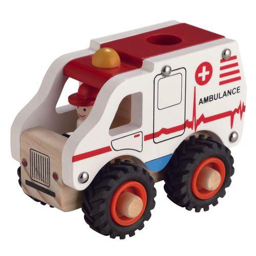 Egmont Toys Ambulans i Trä Vit