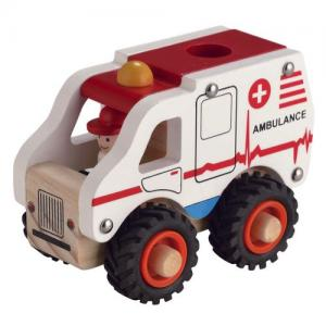 Egmont Toys Ambulance In Wood White