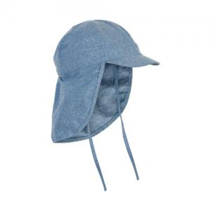En Fant Sun Hat With Neck Protection Faded Denim