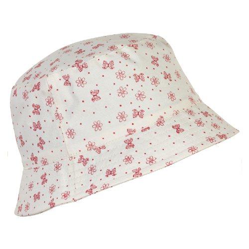 En Fant Sun Hat White with Pink Flowers