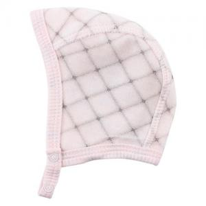Fixoni Helmet Cap Velour Checkered Light Pink