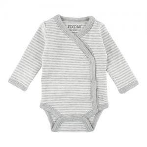 Fixoni Prematur Body Wrap White Gray Striped ECO