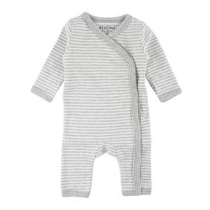 Fixoni Prematur Body Suit White Gray Striped ECO