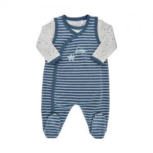 Fixoni Prematur Sparkbyxor med Body Ekologisk Blå