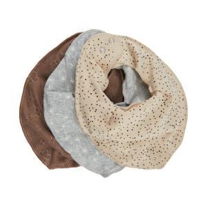 Fixoni Fabric Scarf / Bib 3-Pack Beige