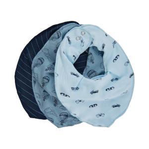 Fixoni Fabric Scarf / Bib 3-Pack Blue
