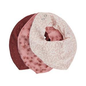 Fixoni Fabric Scarf / Bib 3-Pack Pink
