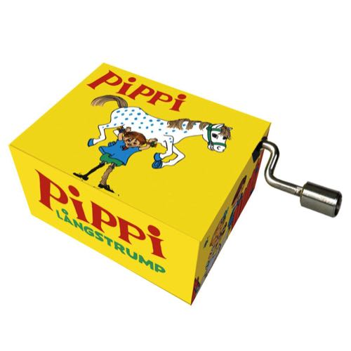 Fridolin Music Box With Crank Pippi Longstocking Melody: Pippi Longstocking song