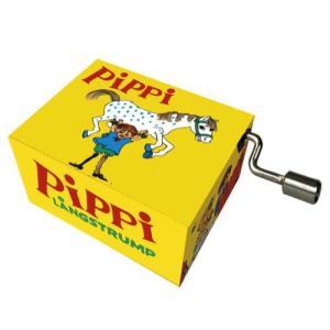 Fridolin Music Box With Crank Pippi Longstocking Melody: Pippi Longstocking song