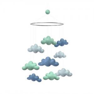 Gamcha Bed Mobile Cloud Blue / Mint