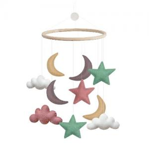 Gamcha Mobile Clouds Moon Star Pastel