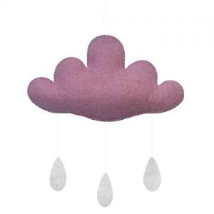 Gamcha Baby Mobile Cloud Pink