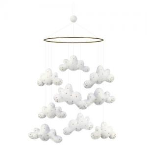 Gamcha Baby Mobile Cloud White With Beads