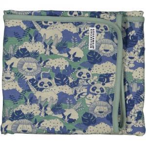 Geggamoja Baby Blanket Jungle Blue/Green