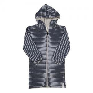 Geggamoja Bathrobe Classic Grey/Blue Eco Reversible