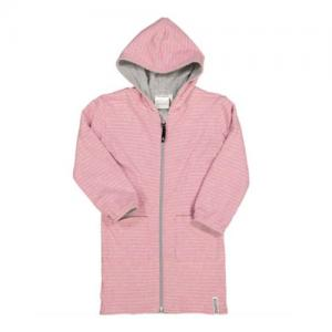 Geggamoja Bathrobe Classic Grey/Pink Eco Reversible