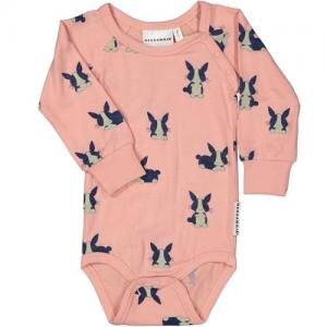 Geggamoja Body Pink With Bunnies