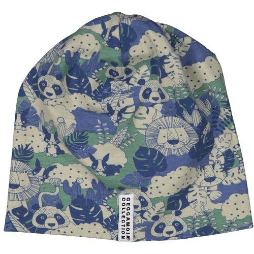 Geggamoja Fleece Mössa Jungle Blå/Grön - Bambu