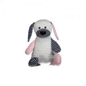 Geggamoja Stuffed Animal Classic Doddi Dog Small 20 cm Grey Mix