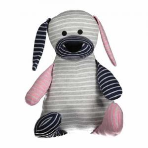 Geggamoja Stuffed Animal Classic Big Doddi Dog One Size Grey Mix