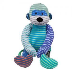 Geggamoja Stuffed Animal Kokki Monkey Mixed Colors Blue 30 cm