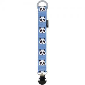 Geggamoja Pacifier Holder Blue Panda