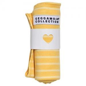 Geggamoja Cuddly Blanket Yellow/White Stripe
