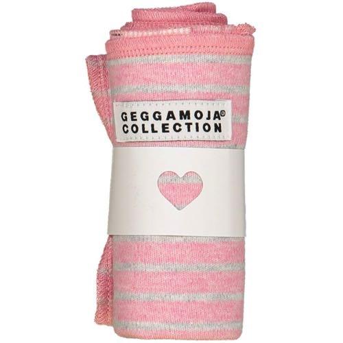 Geggamoja Cuddly Blanket Pink/Grey Stripe