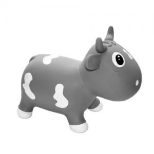 Gerardo Toys Jumpy Hopper Toy Light Grey Cow Bella
