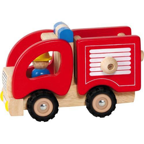 Goki Brandbil i trä Röd