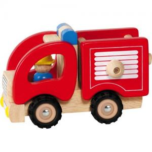 Goki Fire Truck In Wood Red