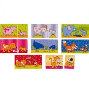 Goki Memo + Puzzle In Wood 16 Pieces 2+