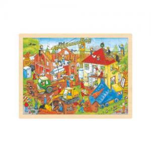 Goki Wooden Puzzle Building Site 96 pieces