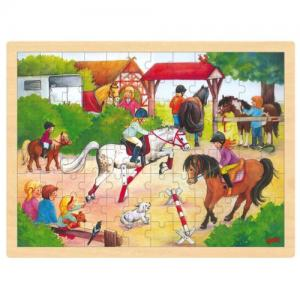 Goki Puzzel Horse Show In Wood 95 Pieces