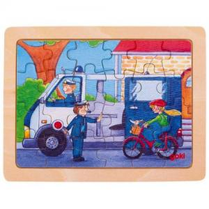 Goki Puzzle In Wood 24 Pieces 3+ Police Car