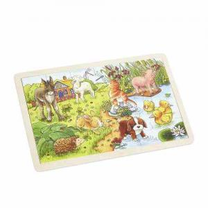 Goki Wooden Puzzle 24 pieces Animal Cubs 3+ years