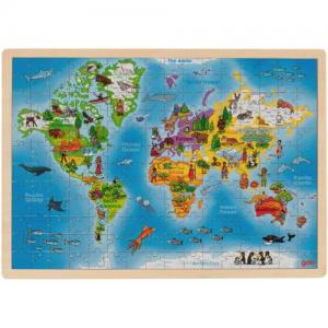 Goki Puzzle The World In Wood 192 Pieces